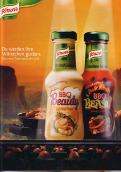 Beauty and Beast, das Saucenduo von Knorr.