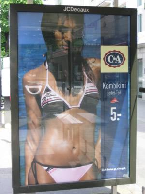 Bikini Werbung von C&A