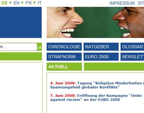 Ausschnitt der Website gra.ch