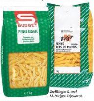 S-Budget Nudeln von Migros und von Spar